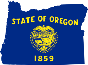 Oregon State Flag_Map Image For News Post Detailing Oregon's Passage of A Bill To Alter Remote Notarization Standards in the State